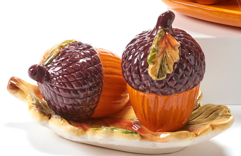 Fall Themed Salt & Pepper Shakers
