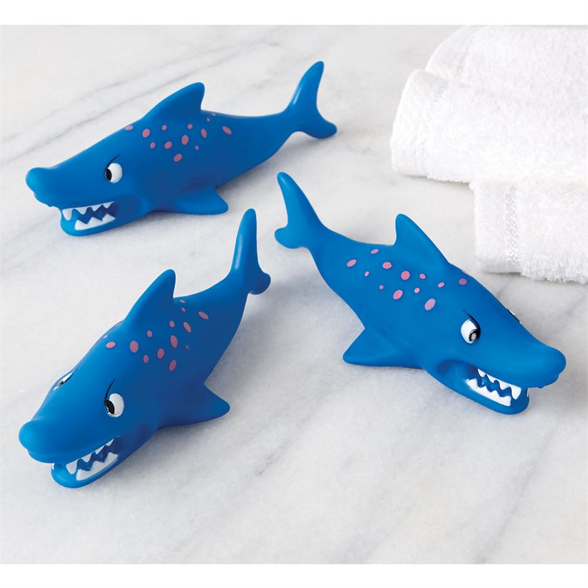Set of 3 Sharks Squirt Bath Toys Brookshire Boutique www.brookshireboutique.com