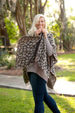 Personalized Leopard Pattern Shawl or Matching Wristlet Viv & Lou Brookshire Boutique www.brookshireboutique.com