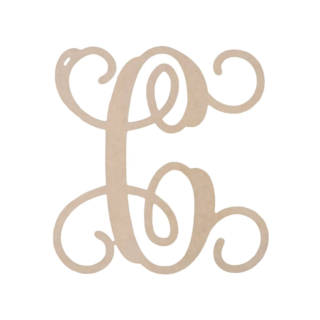 Wooden Single Initial and & Sign Brookshire Boutique www.brookshireboutique.com
