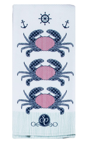 Southern Couture Crab Oven Mitt or Tea Towel