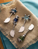 Glass Sealife Coastal Cheese Spreaders Mud Pie Brookshire Boutique www.brookshireboutique.com