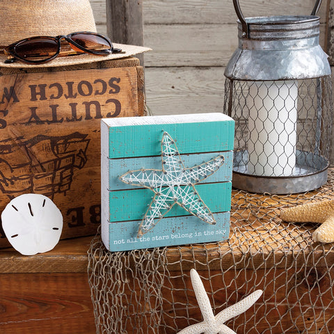 Starfish String Art Box Sign