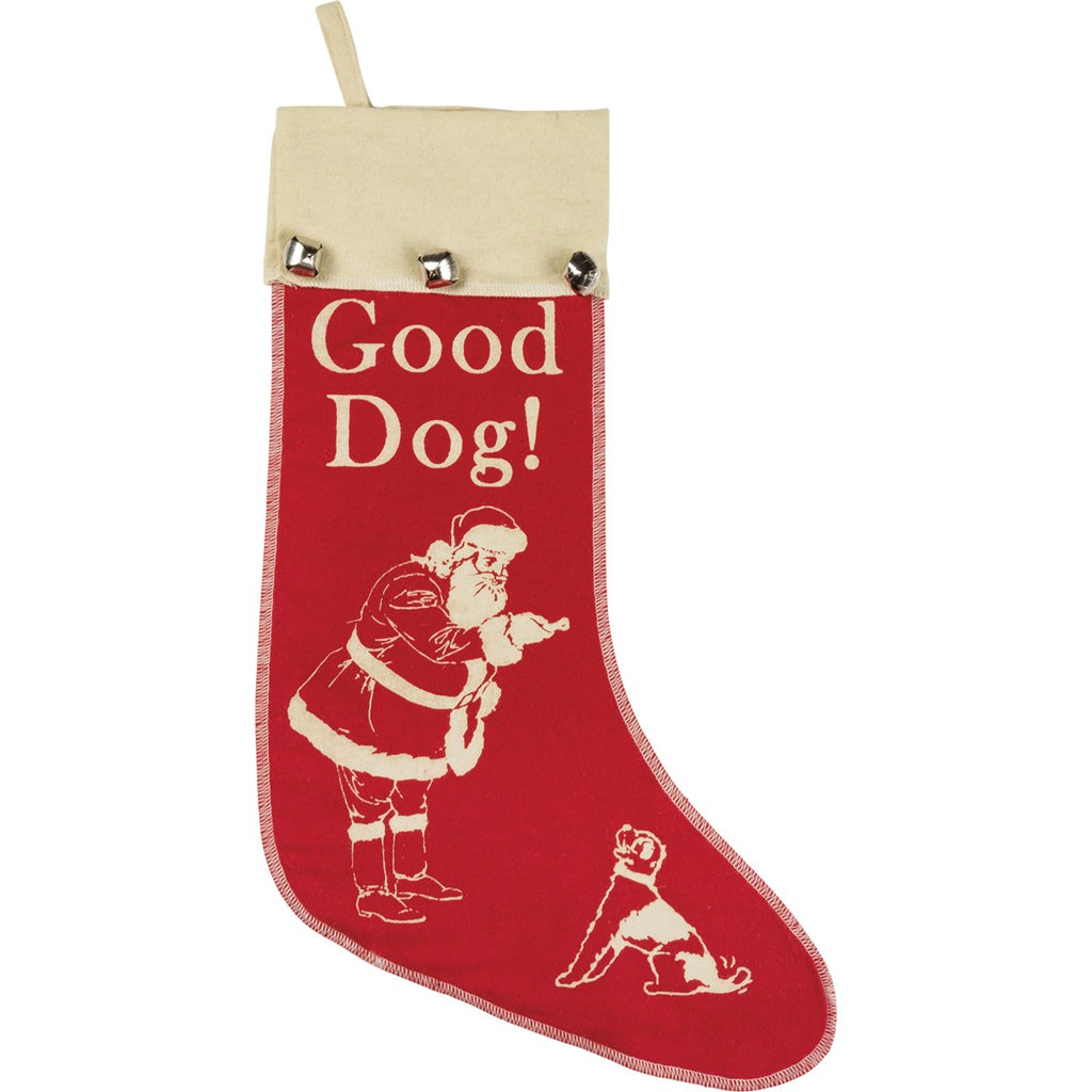 Good Dog! Christmas Stocking Primitives by Kathy Brookshire Boutique www.brookshireboutique.com