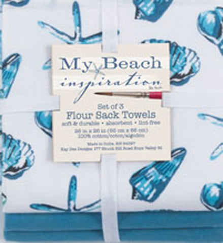Set of 3 Flour Sack Tea Towels