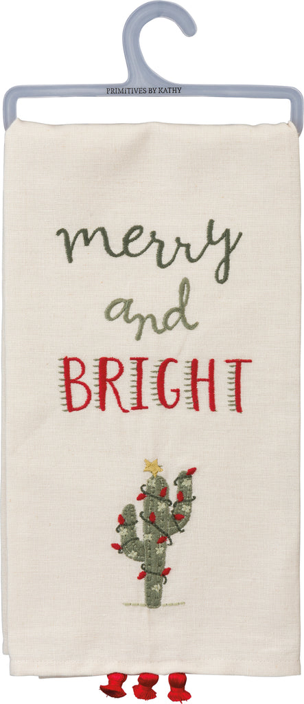 Merry & Bright Tea Towel Brookshire Boutique www.brookshireboutique.com Primitives by Kathy