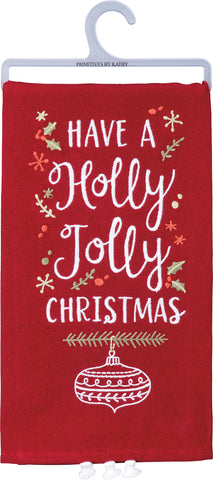 Holly Jolly Christmas Tea Towel