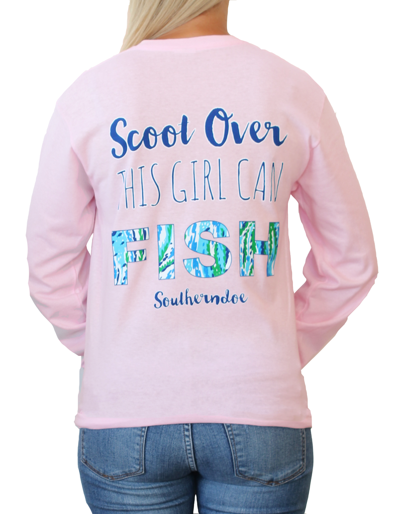 Southerndoe Scoot Over, This Girl Can Fish Tee Shirt Brookshire Boutique www.brookshireboutique.com