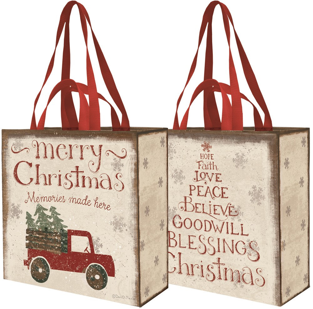 Merry Christmas Market Tote Primitives by Kathy Brookshire Boutique www.brookshireboutique.com
