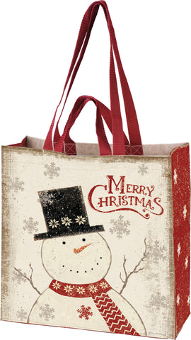 Christmas Snowman Market Tote
