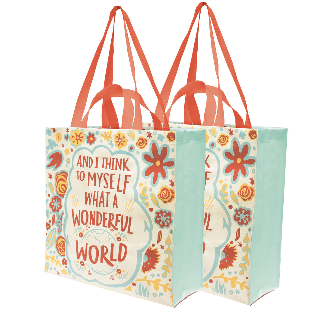Primitives by Kathy What a Wonderful World Reusable Tote Brookshire Boutique www.brookshireboutique.com