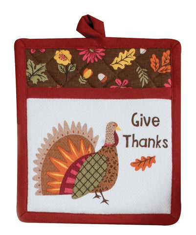 Thanksgiving Turkey Tea Towel or Pot Holder