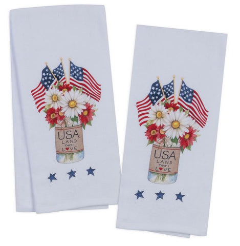 USA American Pride Tea Towels, Set of 2