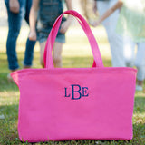 Personalized Monogrammed HUGE Mint, Pink, or Navy Ultimate Beach Tote