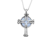 Ancient Israel Roman Glass & Sterling Silver Cross Necklace www.brookshireboutique.com