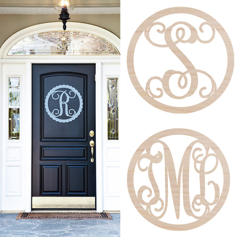 "22"" Wooden Initial or Monogram Door Hanging"