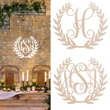 "18"""" Wooden Laurel Wreath Family Name Door Hanging Brookshire Boutique www.brookshireboutique.com"