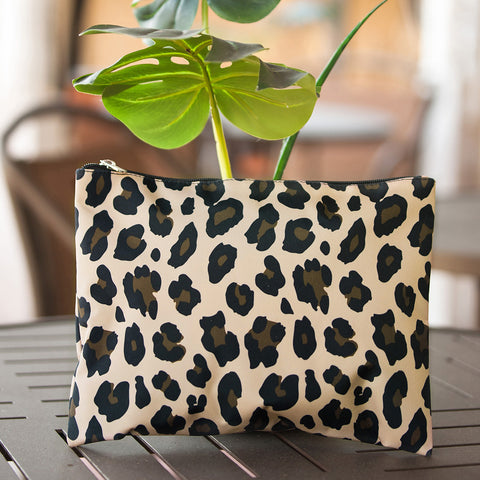 Personalized Wild Side Travel Tote, Hanging Cosmetic Bag or Zip Pouch