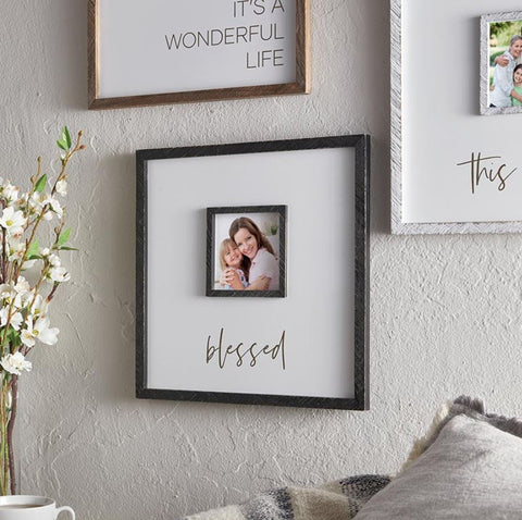"12"" x 12"" ""Blessed"" Photo Frame"