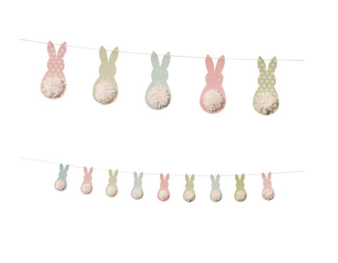 "72"" Happy Tails Easter Bunny Garland"