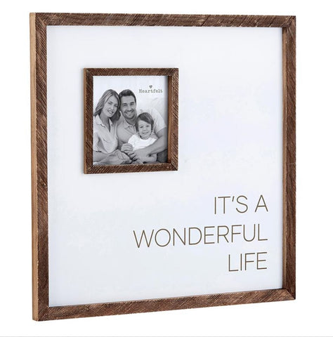 "12"" x 12"" ""It's a Wonderful Life"" Photo Frame"