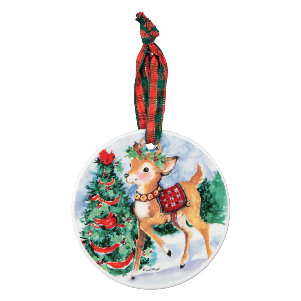 Vintage Style Reindeer Ornament Brownlow Gifts Brookshire Boutique www.brookshireboutique.com