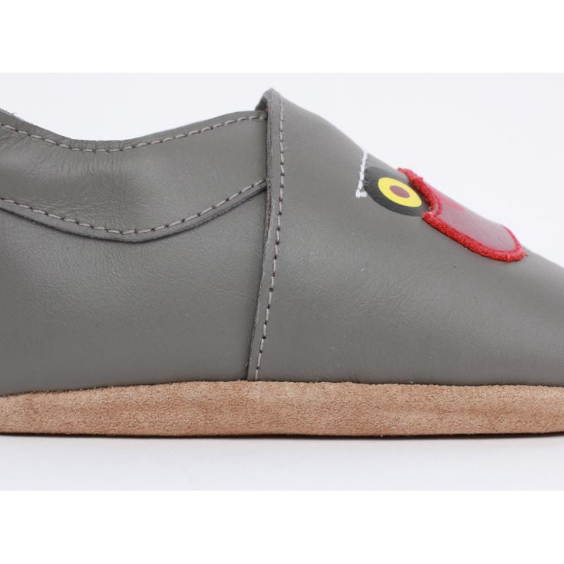 Soft Sole Leather - Grey Tractor