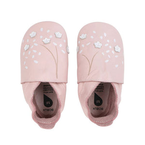 Bobux Soft Sole Leather - Pink Cherry Blossom