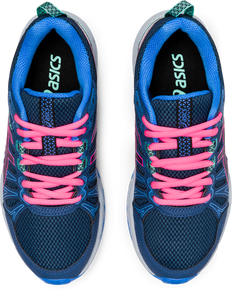 Asics Kids Gel-Venture 7 GS Lace Sneaker - Peacoat/Hot Pink