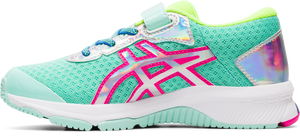 Asics Kids GT-1000 9 PS A/C Sneaker - Fresh Ice/Pink Glo