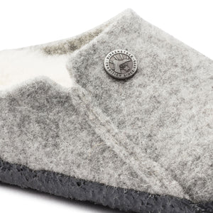 Kids Zermatt Wool Felt Clog - Light Grey