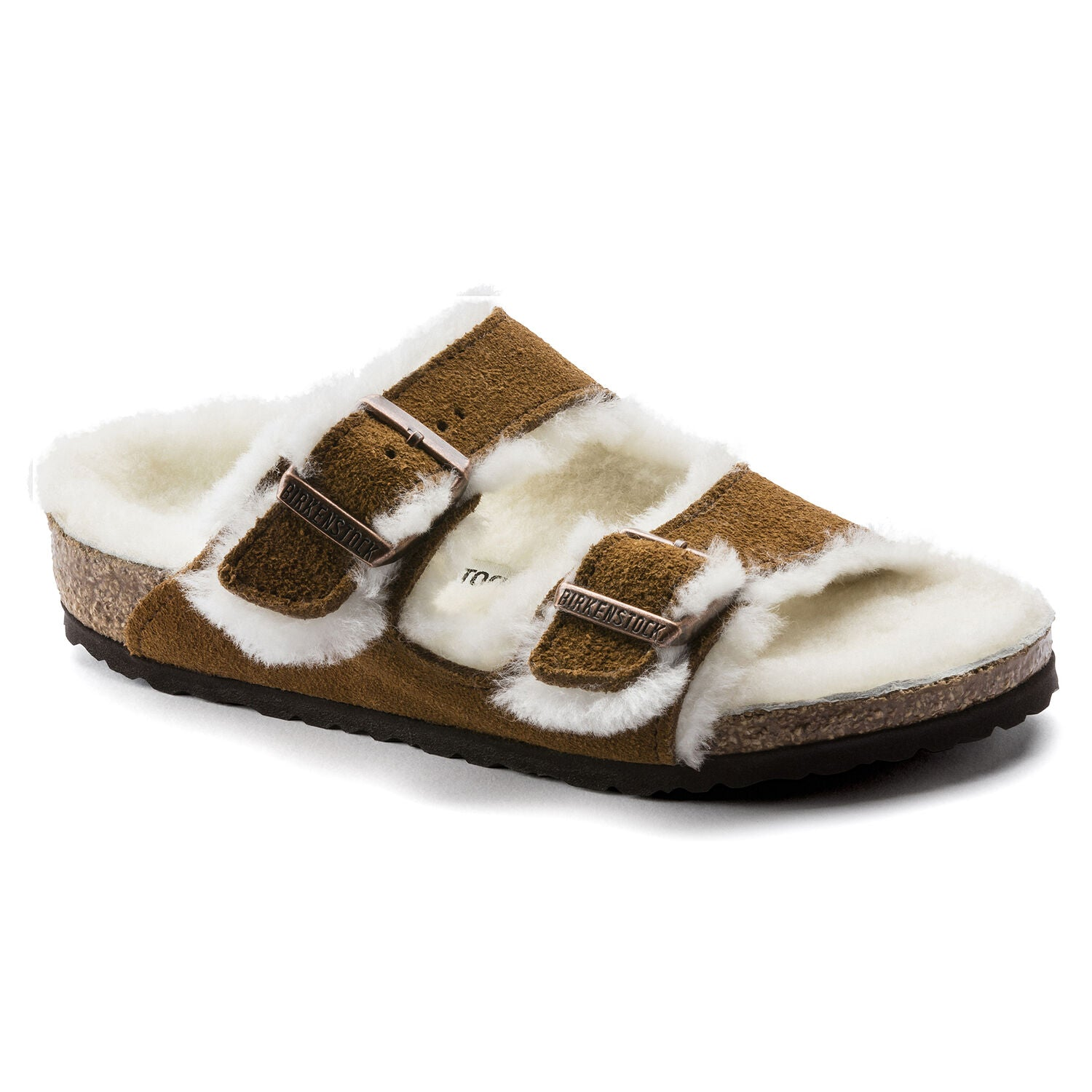 Kids Arizona Shearling Suede Sandal - Mink