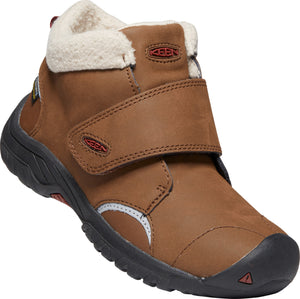 Keen Little Kids' Kootenay III Waterproof Boot - Bison/Fired Brick