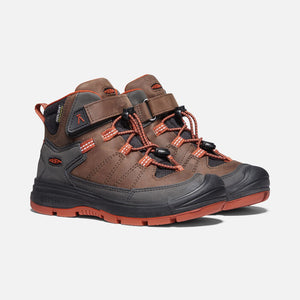 Keen Kids' Waterproof Leather Hiker - Coffee Bean/Picante