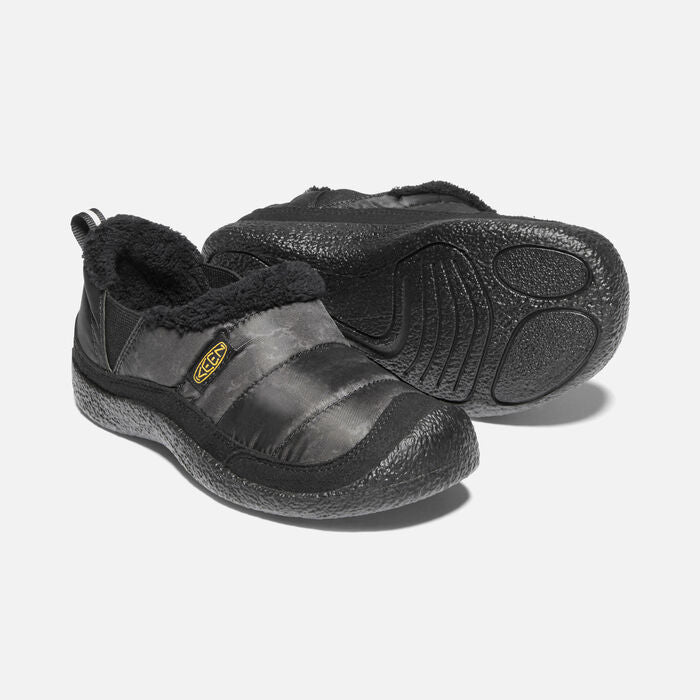 Keen Kids' Howser II Slip-On Slipper Shoe - Black/Keen Yellow