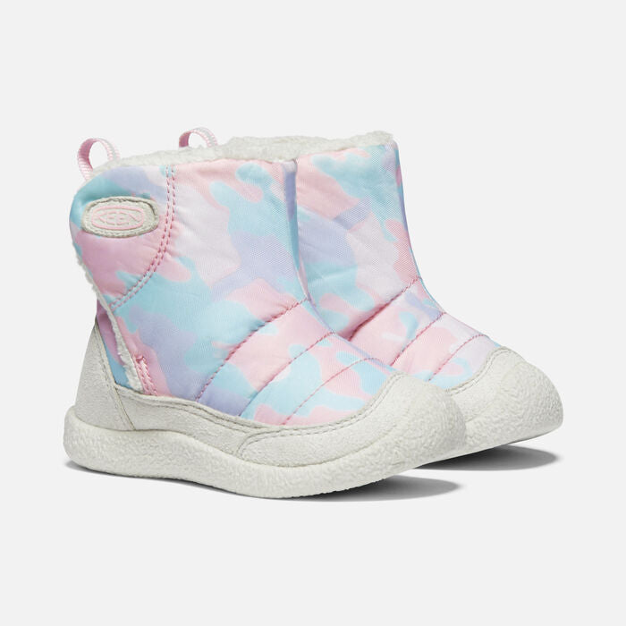 Keen Kids' Howser II Mid Slipper Boot - Silver Birch/Pink Blush