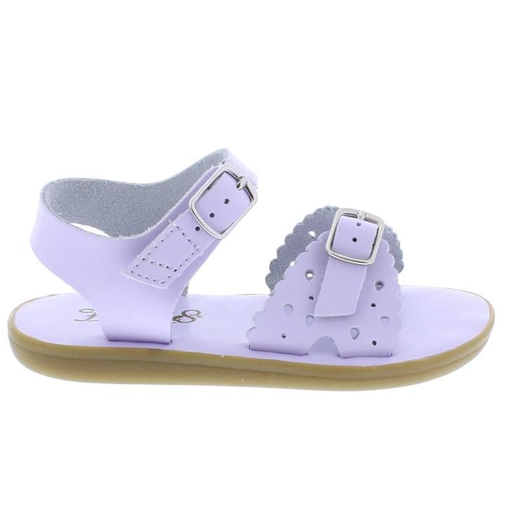 Ariel Leather Sandal - Lavender