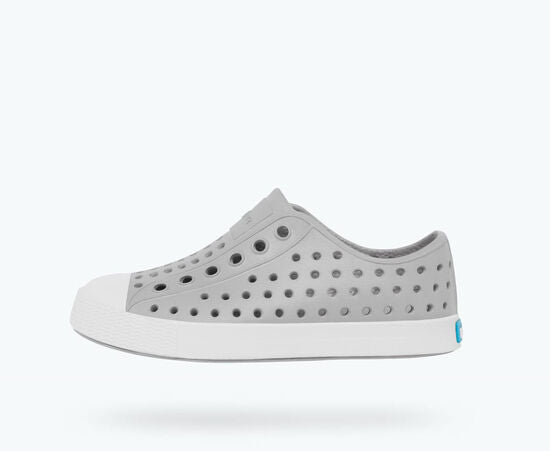 Native Kids Jefferson Slip On Shoes - Pigeon Grey/Shell White