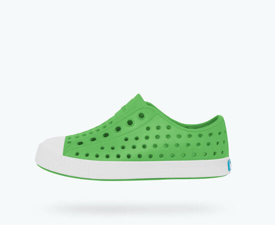 Native Kids Jefferson Slip On Shoes - Grasshopper Green