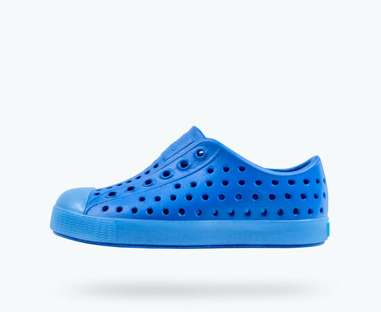 Native Kids Jefferson Translucent Slip On Shoes - Victoria Blue/Transparent