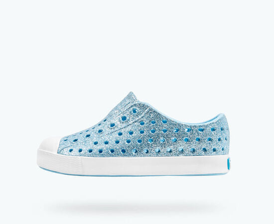 Native Kids Jefferson Bling Slip On Shoes - Light Sky