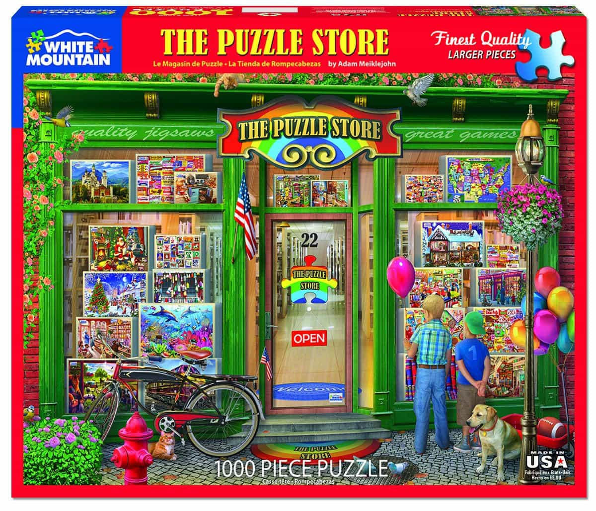 White Mountain Puzzle Shop 1000 Piece Jigsaw Puzzle