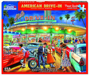 White Mountain American Drive-In Jigsaw Puzzle
