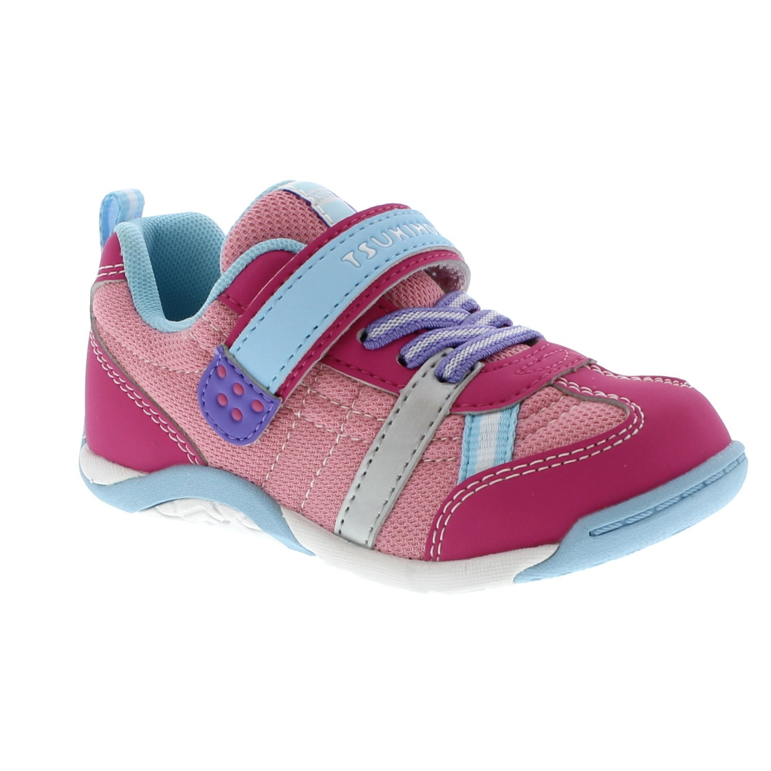 Tsukihoshi Kaz in Fuchsia/Lt. Blue -  - Little Feet Childrens Shoes  - 1