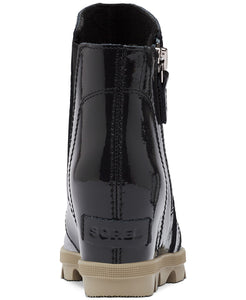 Kids' Joan of Arctic Wedge Zip Boot - Black Patent