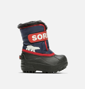 Childrens' Snow Commander™ Waterproof Boot - Nocturnal/Sail Red