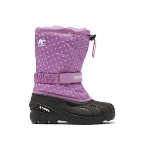Youth Flurry Print Winter Boot - Violet Haze/Dots