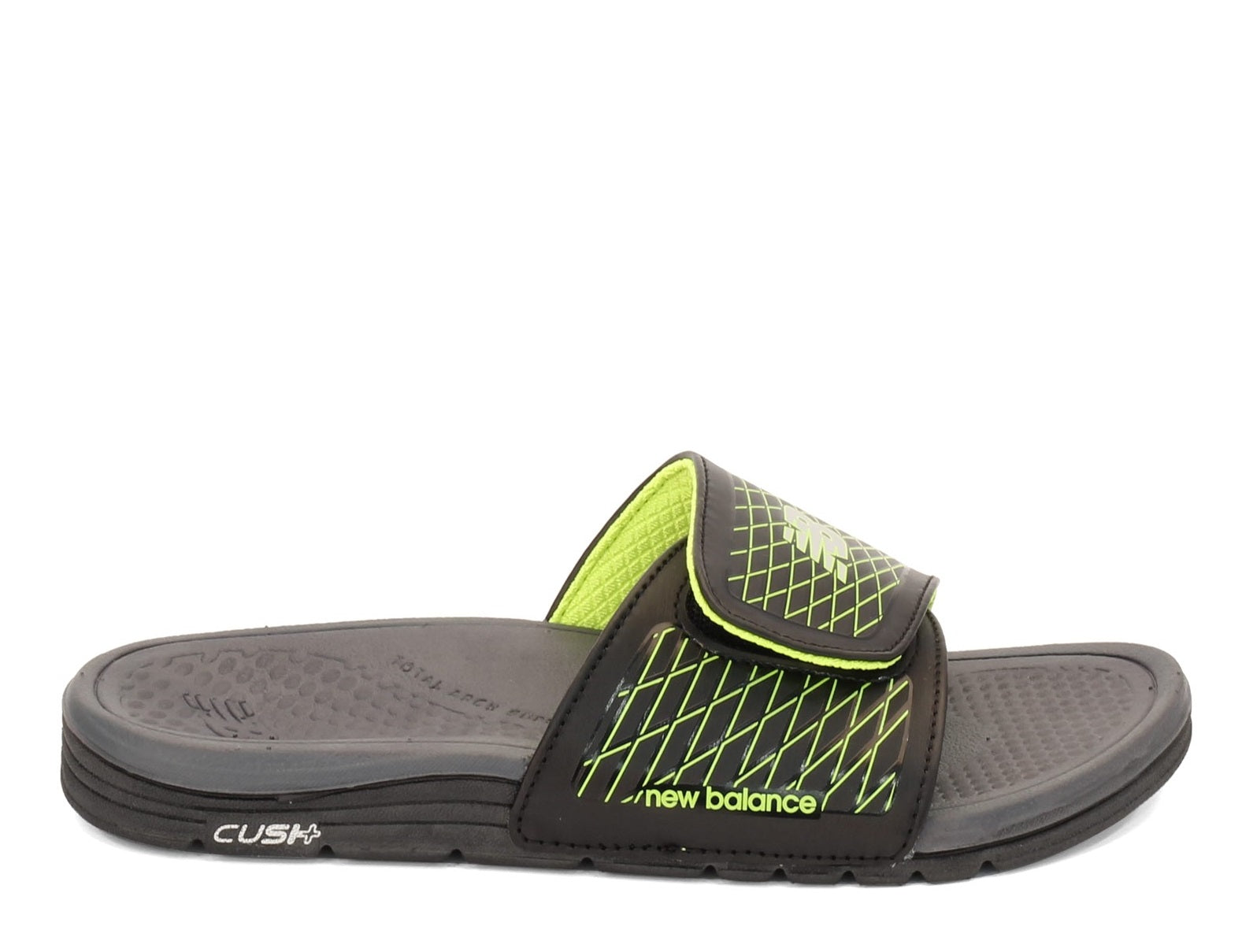 New Balance Mens 3064 Cush Slide Sandal - Black/Green
