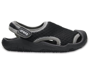 Crocs Kids Swiftwater Sandal - Black/Grey