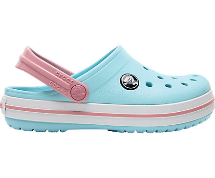 Crocs Kids Crocband Clog - Ice Blue/White/Pink